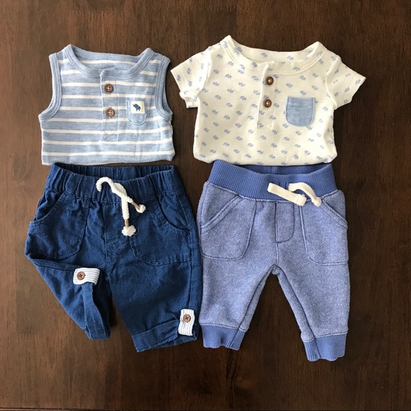 42fdfc4a4 Carter's Matching Sets | Carters Newborn Lot Baby Boy Blue Outfit ...